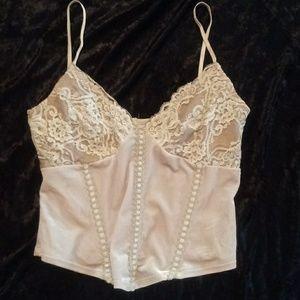 BeBe nude corset top